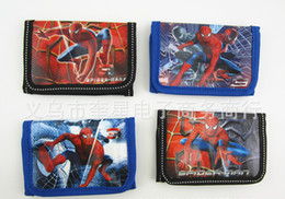 Wholesale Wholesale Animal Purses For Children - NEW child coin purse wallet boy bag spider-man zero wallet Zero wallet for boy Random color ZX138