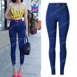 Wholesale Ladies Street Jeans - Nice Spring Vogue Women Denim Pants Jeans Sexy High Waist Slim Stripe Feet Pants Skinny Street Type Lady Long Pencil Pants Jeans