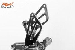 Wholesale Suzuki Footpegs - Rearsets CNC Adjustable Rear set Footpegs For SUZUKI GSXR750 GSXR 750 GSX750R 1996-2005 Titanium color M53031