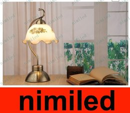 Wholesale Ac Gears - nimi558 Modern Countryside European-style Garden Touched Third Gear Table Lamp Dimmable Bedroom Bedside Study Room Desk Light Lighting