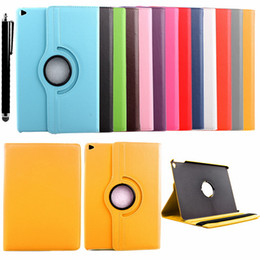 2019 support de manche ipad Etui à bascule pivotant en cuir 360 pour Apple iPad mini mini 2 mini 3 / iPad air / iPad air2 / coque Samsung S2 T815 T715