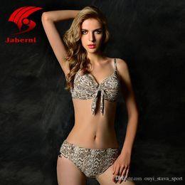 Wholesale Hot Red Bikini For Sale - 2016 Hot Sale Sexy Ruffled Bikini Push Up Swimwear XXL Plus Size Women Mid Waist Biquini Bowknot Swimsuit For Lady Snakeskin Print Beachwear
