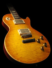 Wholesale Aged Guitar - best china guitar Custom Shop Collectors Choice #1 Gary Moore Aged 1959 Unburst Butterscotch one-piece neck (No Scarf)
