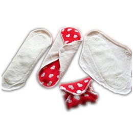 Wholesale Cloth Menstrual Pads Wholesale - Free Shipping New Designer Bamboo Mama's Cloth Printed Menstrual Pads Liners Washable 200 pcs