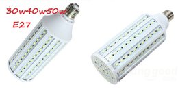 Wholesale E27 165 Led - 30W 40W 50W E27 E14 B22 220V 110V Light SMD 5630 5730 60 86 102 165 LED Corn Bulb Lamp Free shipping sunlights