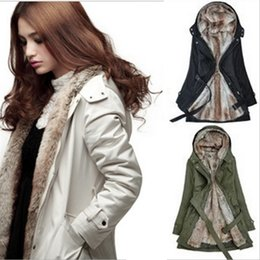 Wholesale Ling Winter Coats - Women Clothes Plus Size Hooded Women's Fur Winter With Faux Fur Ling Long Coat Outerwear for Women MC-982