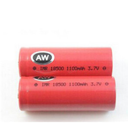 Wholesale Top Mechanical Electronic Cigarette - AW IMR 18350 18500 18650 Li-ion Rechargeable Battery High Drain Lithium Battery flat top for Electronic Cigarette mechanical mods