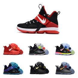 Wholesale Lebrons 12 - With box LBj 14 Lebrons XIV 14s Men Basketball Shoes LEbron James Mens SBR Christmas Rio Glow Coast Elite Sport Basketball Sneakers US7-12