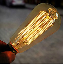 Wholesale Globe Industrial - 110V 220V Vintage Edison Bulb Industrial Incandescent Lights E27 Base 40W Antique Bulbs With High Quality Tungsten Filament Warm White