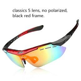 Wholesale Multifunction Sunglasses - Wholesale-Multifunction Polarized Outdoor Sports Sunglasses Men Women Cycling Glasses Eyewear Riding Bike Glasses Bicycle Sunglasses