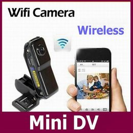 Wholesale Ip Video Recording - Md99s WiFi Wireless IP Camera Mini DVR camcorder Video Record wifi hd pocket-size camera remote control by smart mobile phone