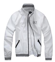 Wholesale Men Basic - White Outerwear Basic Jacket sportwear Zipper Breasted Jackets Casual bomber jacket for Men women Windbreaker coats