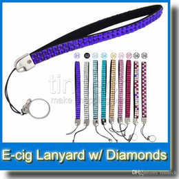 Wholesale Necklace Ego Diamond - Bling Bling Necklace String Neck Chain EGO Lanyard with diamond Hot selling Necklace String Neck Chain Lanyard for all ego batteries