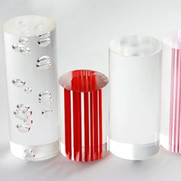 Wholesale Acrylic Rod Clear - acrylic clear rods with bubbles inside of OD25mm x 1000mm home decor use for light accessories can cut into any length