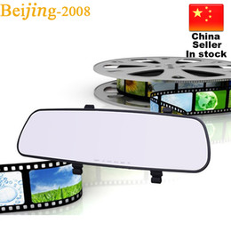Wholesale Monitor Boards - Hot 2.8 Inch M08 Rear view Mirror Car Dvr Direct Selling Super Night Vision Recorder HD 140 degree Wide Angle On-Board Monitoring 010228
