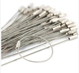 Wholesale Steel Wire Keychain - Stainless Steel 15cm Wire Keychain Cable Outdoor Hiking Key Ring Wire Key Ring Circle Factory Price 3000pcs