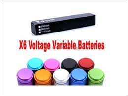 eGo X6 Batterie 1300mah 3.6V 3.8V 4.2V Tension Variable Batterie pour CE4 CE5 CE6 Protank Cigarette Électronique E Cigarette Cig Couleurs ? partir de fabricateur