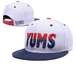 Wholesale Cheap Yums Snapback Hats - New AHA Yums Snapbacks Lovely Smile Hats Ball Snap Backs Cheap Women Men Fashion Hip Hip street Snapback Sports Caps LH