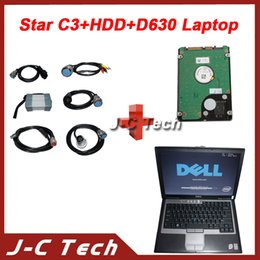 Wholesale Star C3 Tester - 2015 Full pro Kits Super MB Star C3 Professional Star C3 Multiplexer tester Star compact 3 C3 +2015R5 software hdd+ d630 laptop