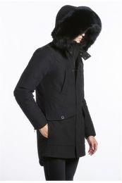 Wholesale Korean Fashion Hooded Parka - Big scissors Mens Long Down parkas hooded with fox furs collar korean editions Ryan Parkas MK2613KLP