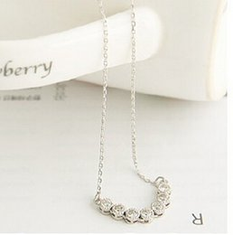 Wholesale Pearl Smile - Wholesale-2015 New Fashion Hot-Selling The latest Girl Single Row Pearl Pendant Necklace With A Smile Little Star 66N552