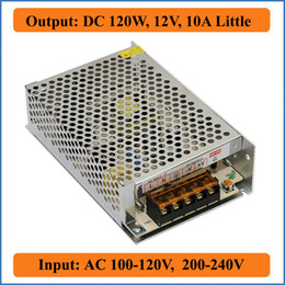 Wholesale 12v Input Power Supply - 120W 12V 10A Little Single Output DC 12V Switching Power Supply 100~120V 200~240V AC input for LED Strip Light for CCTV camera Transformers