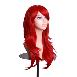 Wholesale Multi Colored Long Wigs - Anime Wigs Long Red High Temperature Hair Silk Wig Cosplay 70CM B2C Shop