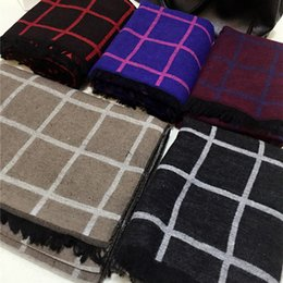 Wholesale Short Pashmina - 2015 Winter Popular New tartan design cashmere scarves women's shawl double-sided Short tassels Pashmina Long Wraps 190x60cm
