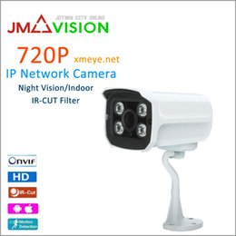 Wholesale Ip Camera Array - IP Camera HD 720P 1.0 MP ONVIF CCTV Security Camera 4 pcs Array Infrared Led Night Vision Nerwork Outdoor Bullet Camera XMEYE
