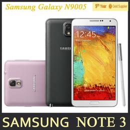 Wholesale Andriod Unlocked - Original Samsung Galaxy Note 3 N9000 N9005 Unlocked Mobile Phone Quad Core 3GB RAM 5.7 Inches 13MP GPS Refurbished Andriod Phone