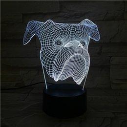 2019 i cani hanno condotto la lampada 2020 Telecomando testa di cane luce visiva 3D lampada da tavolo USB colorato 7 colori cambia LED casa festa camera da letto decorativa luce notturna regalo wn319 sconti i cani hanno condotto la lampada