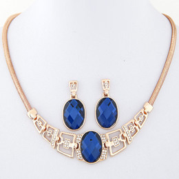 Wholesale Women Wedding Clothing - 2015 Fashion Gold and Silver Plated Necklace Earring Jewelry Sets Women Clothes Accessories High Quality