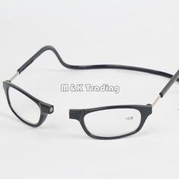 Wholesale reading glasses strengths - Clic Resin Reading Glasses Slim Magnet Reading Glasses Eyewear Far-sighted 8 Colors Hang On Neck For Old People