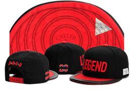Leggende snapback cap online-Cappellini da baseball regolabili regolabili della donna dell'anca del cappello della via di hip-hop di modo di CAFFE di Cayell di nero di rosso di estate dei pantaloni regolabili di trasporto Trasporto libero TYMY 309