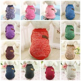 Wholesale Dog Carried - Soft Knitting Dog Sweater Breathable Washable Dirt Resistant Cat Dogs Sweaters Cute Easy To Carry Pet Clothes Hot Sale 7gg B