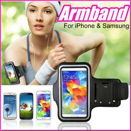 Wholesale Iphone 5s Gym - WaterProof Sport Gym Running Armband Pouch Case Cover For Apple iphone 6 Plus 5 5S Samsung Galaxy S5 S6 edge Note 3 4