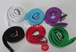 Wholesale Ego Lanyards Dhl - DHL Ego Necklace String with silicone Ring Neck Chain Lanyard for eGo T eGo-w,eGo-c Glass Globe Atomizer Electronic Cigarette wax vaporizer