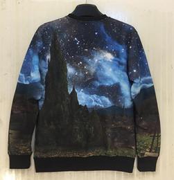 Wholesale Beautiful Hoodies - Wholesale-[Mikeal] 3d sweatshirt for men women 3d hoodies galaxy print beautiful Scenery Mountain casual hoodies sudaderas W208