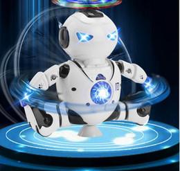 2019 insetos robôs Inteligente 360 Rotating Espaço Dança Robô Eletrônico Infravermelho Musical Andando Lighten Multi-função Inteligente Brinquedos para Kid Robot brinquedos 30 PCS