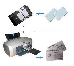 karte leer glänzend Rabatt Glänzende Tintenstrahl weiße leere PVC-Karten-Druck-PVC-Karte 86mm x 54mm x0.76mm für Epson T50 P50 A50 L800 R290 R230 1203 # 03