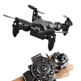Montres rc en Ligne-DH800 2.4G 4CH 6 Axes WIFI FPV Caméra 0.3MP Portable Drone RC Quadcopter Montre Style Mini RC UFO Pocket Drone pour Enfants