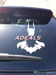 "Wholesale Batman Car Stickers Decals - Cool BATMAN DC Dark Knight Car Window Vinyl Sticker Decal Car Styling Car Sticker Motorcycle Sticker 4.5"" x 5"" H2986 A5"