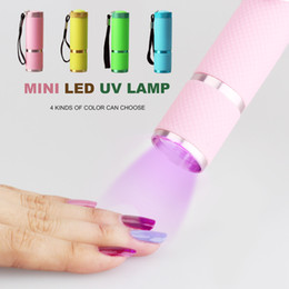 hand held flashlights Promo Codes - MINI UV Light Hand Held Portable Travel LED Lamp Gel Polish 10s Fast Dryer Cure Manicure tools 4 color are available