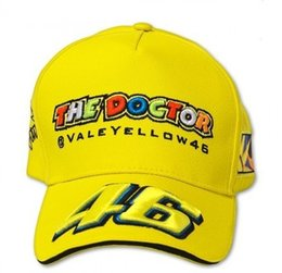 Wholesale Cap Doctor - Wholesale-2015 the Doctor F1 racing cap Yellow cap VR46 Rossi Sign F1 Car Motorcycle embroidery sports Baseball bone gorra hat cap