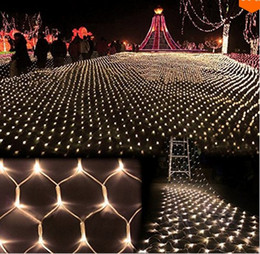 Wholesale Curtain Wall Decorations - 750LEDS 6M*4M Tree Mesh Ceiling House Wall Fairy String Net Light Twinkle Lamp Garland For Festival Christmas Holiday Decoration