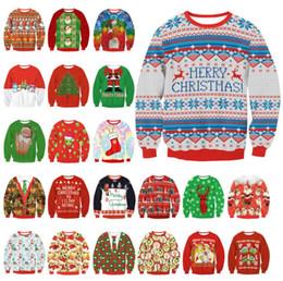 Wholesale United States Jacket - Christmas ladies collar collar loose jacket women sweater Europe and the United States burst shirt