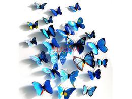 Canada 1200 pcs (= 100 ensembles) Livraison Gratuite Cendrillon 3d papillon décoration stickers muraux 3d papillons pvc stickers muraux amovibles Offre