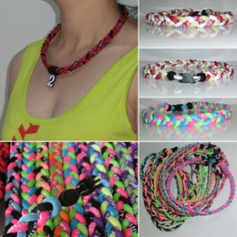Wholesale Titanium Germanium Rope - Titanium Germanium Necklaces 3 Ropes Tornado Necklace triple necklace braided tornado necklace