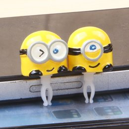 Wholesale Despicable Plug - Hot 2 paragraph ME2 Precious Milk Dad Despicable Me Small Yellow People 3.5mm Universal cartoon mobile phone dust plug Free Ship