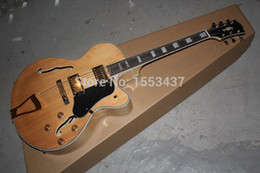 Wholesale Electric Guitar Natural Color - Free shipping New Arrival G L-5 L5 Jazz guitar F -Semi Hollow Natural color Electric guitar in stock